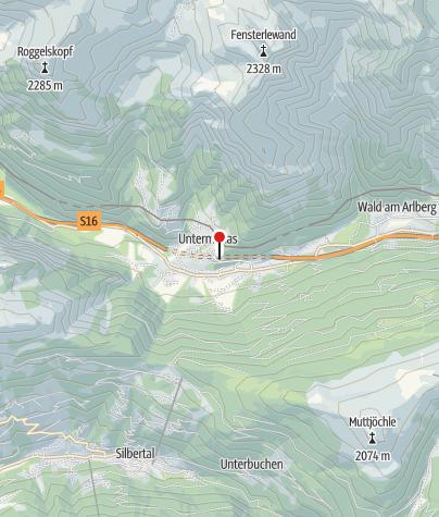 Karte / Dalaas, Katholische Pfarrkirche Heiliger Oswald