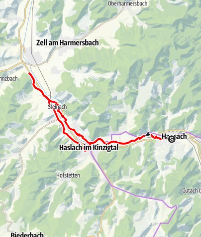 Carte / Familien-Radtour vom SkiClub Hausach