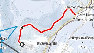Karte / Skiwanderweg nach Hammerunterwiesenthal S3