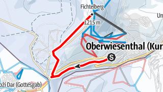 Karte / Winterwanderweg zum Fichtelberg