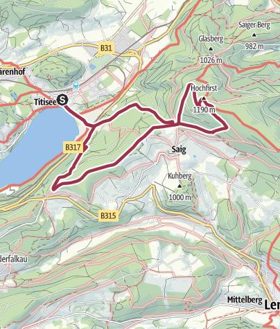 Karte / Von Titisee zum aussichtsreichen Hochfirst
