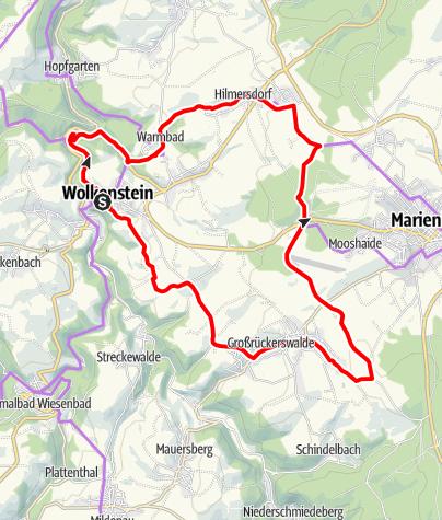 Karte / Vom Zschopau-Rauschen zum Erzgebirgs-Kammblick