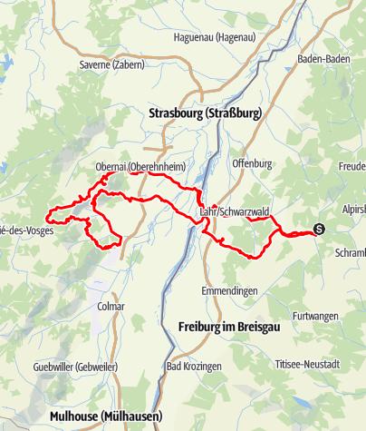 Karte / Vogesen - Hochkönigsburg