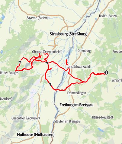Karte / Durch das Elsass
