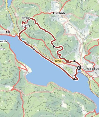 Karte / Genießerpfad - Schluchseer Jägersteig