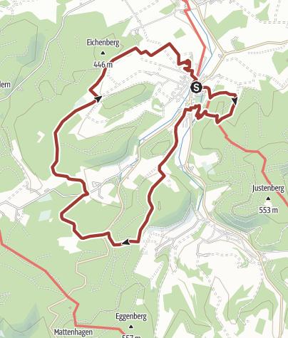 Karte / Der Fickeltünnesweg - Wandern auf dem Geschichtswanderweg rund um Allendorf