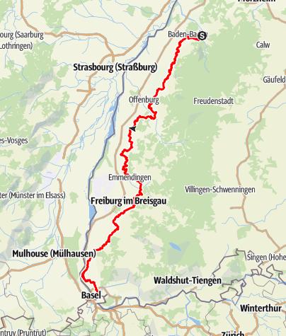 Karte / Badische Weinwanderwege