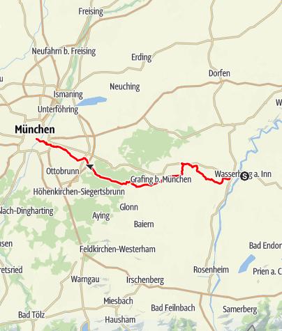 Karte / Panoramaweg Isar-Inn