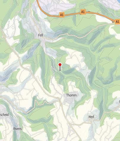 Map / Wohnmobilstellplatz am Besucherbergwerk Fell