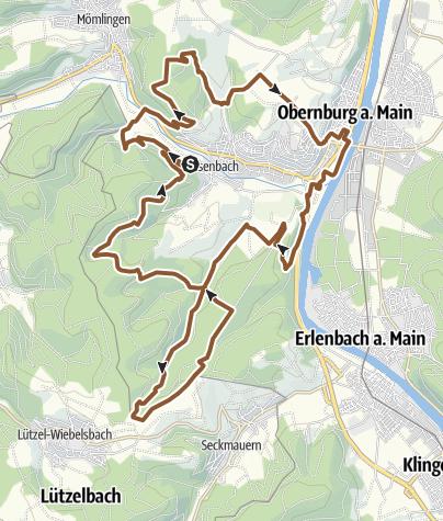 Karte / Mountainbike-Rundstrecke Obernburg - Eisenbach