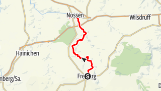 Karte / Mulderadweg - Zwischen Freiberg und Nossen unterwegs an der Freiberger Mulde