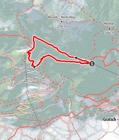 Mappa / Sentiero delle roccie di Velloi (Vellauer Felsenweg)
