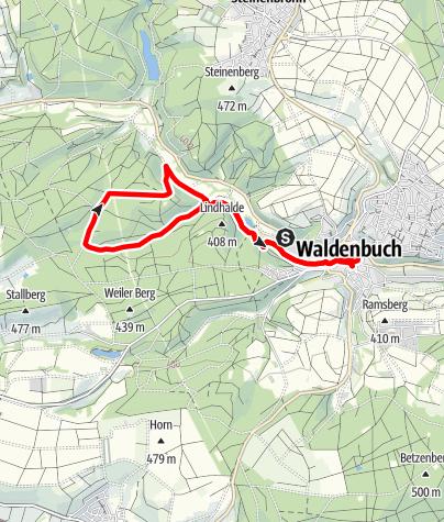 Karte / Wandern zum Quadrat
