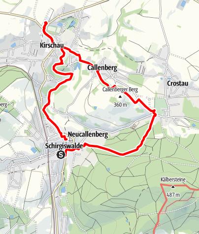 Karte / Kirchentour Schirgiswalde-Crostau-Kirschau