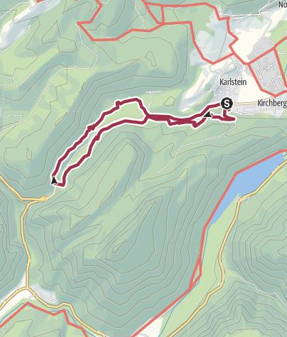 Karte / Auf dem Soleleitungsweg zum Thumsee und Nesselgraben