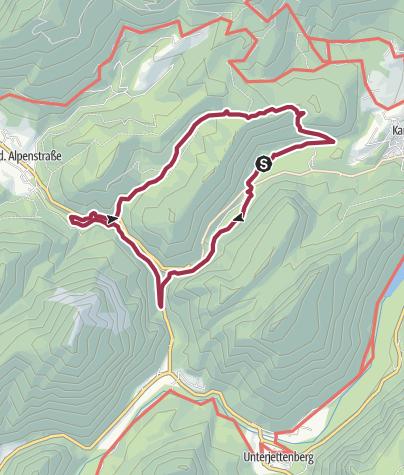 Karte / Vom Thumsee durch die Weißbachschlucht zur Höllenbachalm