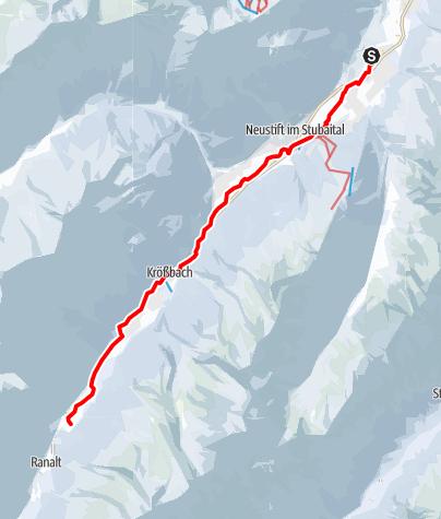 Карта / Talloipe Neustift Verlauf Winter 2021