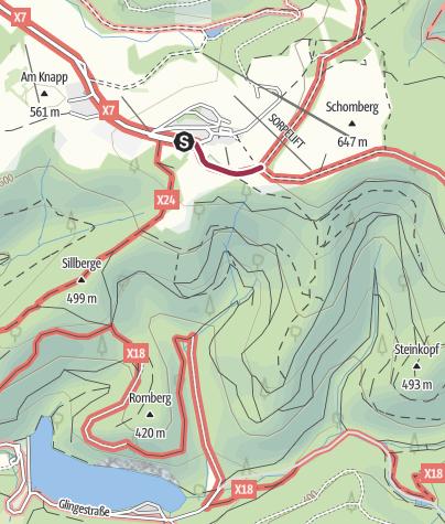 Karte / Zugangsweg Sauerland-Höhenflug: Von Sundern - Wildewiese zum Sauerland-Höhenflug