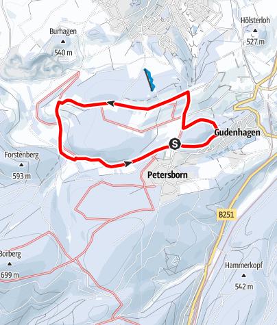Map / Winterwandern: Briloner und Gudenhagener Poppenberg