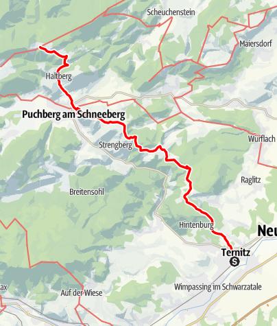 Karte / Haute Route 1. Etappe: Ternitz – Öhlerschutzhaus