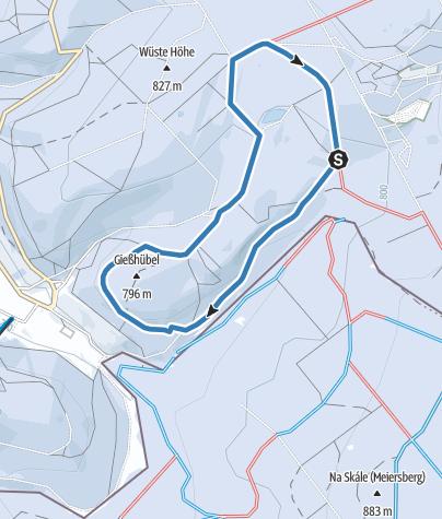 Karte / Altenberg / Rehefeld - Rund-Loipe Wüster Teich (L4)