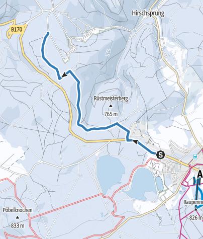 Map / Altenberg / Oberbärenburg - Skiwanderweg Oberbärenburg (S4)