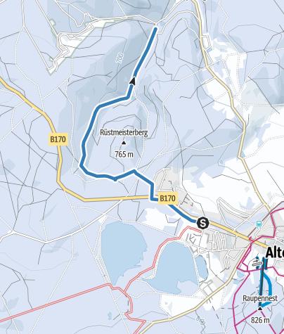 Karte / Altenberg / Hirschsprung - Skiwanderweg Hirschsprung (S6)