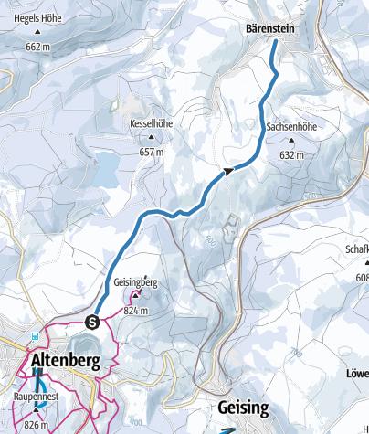 Karte / Altenberg / Bärenstein - Skiwanderweg Bärenstein (S8)