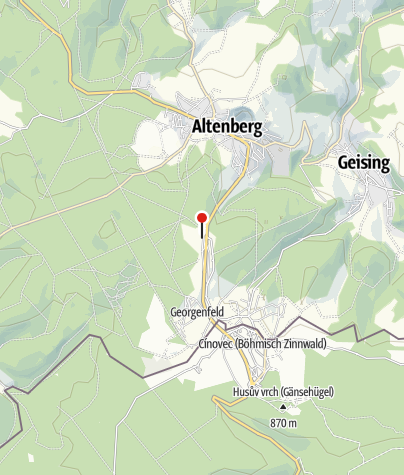 Karte / Zentraler Loipen- und Wanderparkplatz Zinnwald