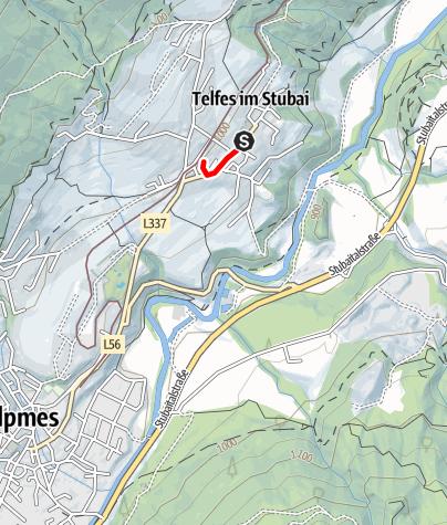 Karte / Kinderlauf Telfes 300m