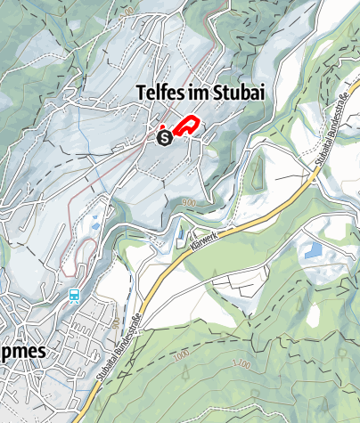 Karte / Kinderlauf Telfes 600 m