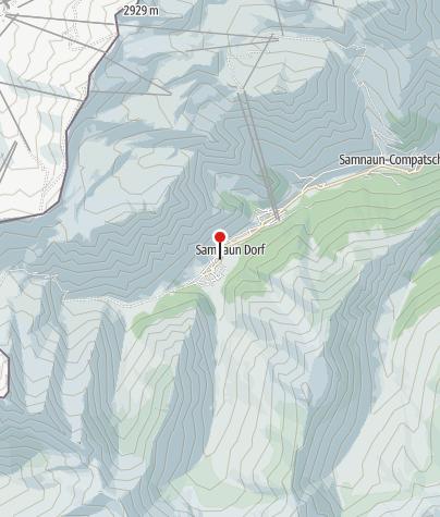 Map / Parkplatz Riva, Samnaun Dorf