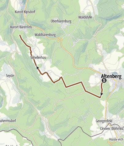Karte / Blockline Etappe 05: Altenberg » Bärenfels