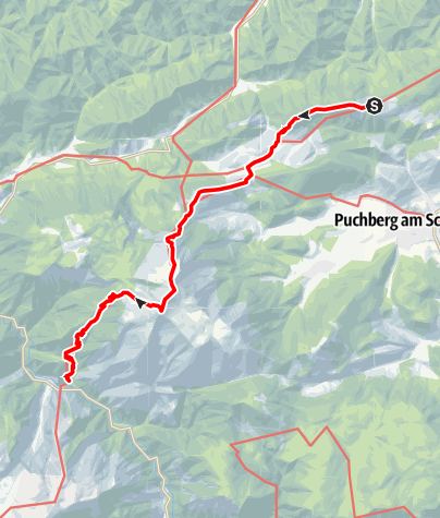 Térkép / Haute Route 2. Etappe: Öhlerschutzhaus – Weichtalhaus