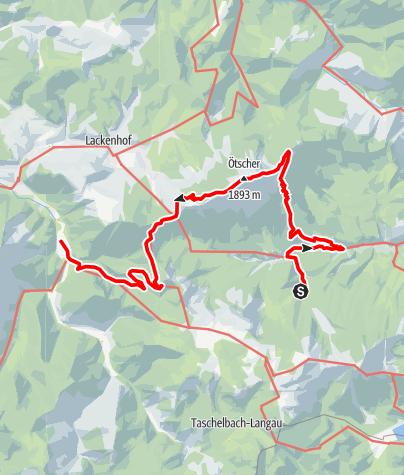Karte / Haute Route 7. Etappe: Vorderötscher – Langau
