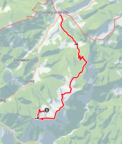 Karte / Haute Route 10. Etappe: Hochkar – Göstling