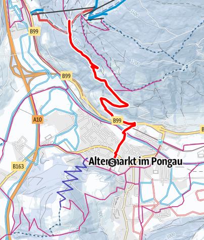 Map / Winter Hiking Trail-Moosalm