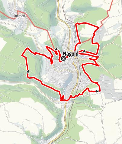 Karte / Qualitätsweg 7-Berge-Weg rund um Nagold