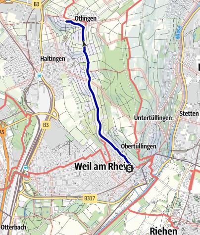 Karte / Weiler Weinweg