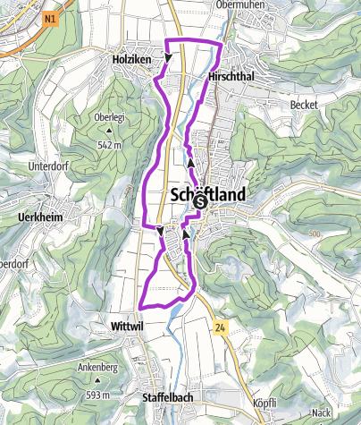 Karte / Suhrental Joggingtour