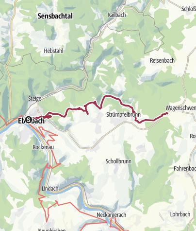 Karte / Von Eberbach zum Trekking-Camp Waldschlössel
