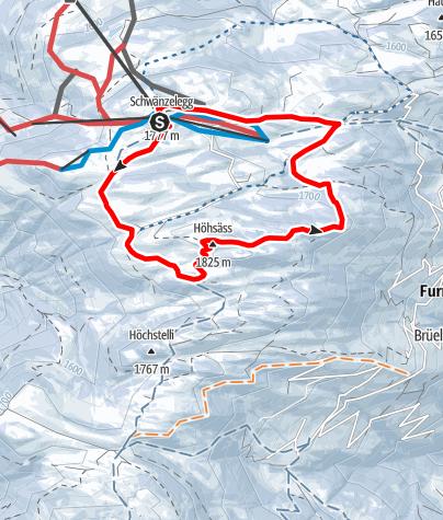 Karte / Danusa-Rundtour Furna (markierter Trail)