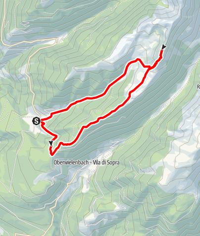 Mapa / Bergtour auf den Schönbichl in Tesselberg