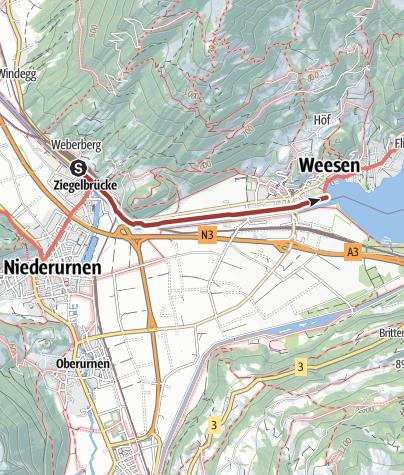 Map / Linthwerk, Standardführung 2 - Linthkanal: Ziegelbrücke - Escherdenkmal/Rautibach - Maagmündung - Weesen