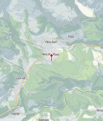 Kaart / Wasserbrunnen Flims Waldhaus