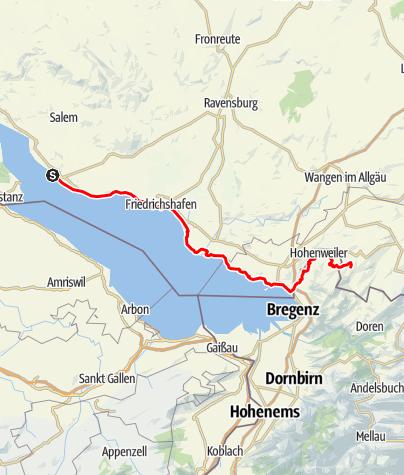 Karte / Meersburg - Scheidegg