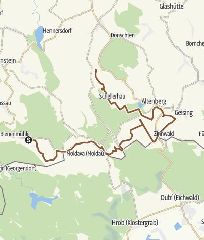 Karte / Blockline Abschnitt Holzhau-Bärenfels