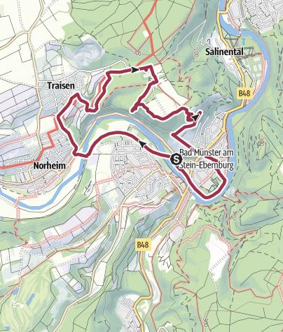 Carte / Schönste Weinsicht 2012 in Bad Münster am Stein-Ebernburg