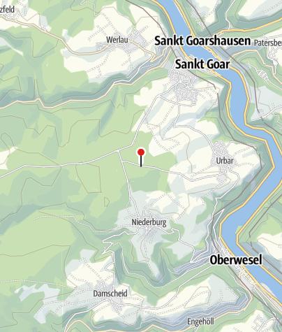 Karte / Wandern rund um den Spitzen Stein (Niederburg, Urbar, Damscheid)