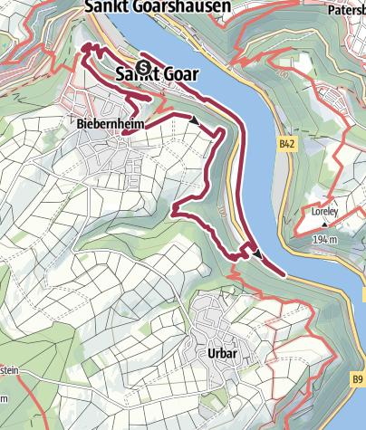 Map / Panoramaweg St. Goar